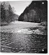 The Broad River 1 Bw Acrylic Print