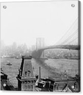 The Brooklyn Bridge 1902 Acrylic Print