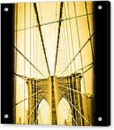 The Brooklyn Bridge New York Acrylic Print