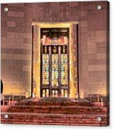 The Brooklyn Public Library Acrylic Print by JC Findley