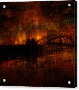 The Burning Of Sydney Acrylic Print