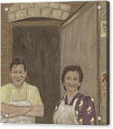 The Butcher And His Wife  Acrylic Print