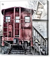 The Caboose Acrylic Print by Bill Cannon
