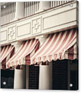 The Cafe Awnings At Chautauqua Institution New York  Acrylic Print