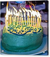 The Cake Is On Fire Acrylic Print