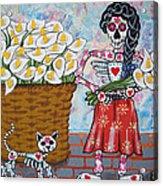 The Calla Lily Flower Vendor Acrylic Print