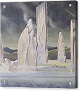 The Callanish Legend Isle Of Lewis Acrylic Print by Evangeline Dickson