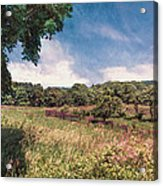 The Calling Of Summer Fields Acrylic Print