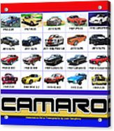 The Camaro Poster Acrylic Print