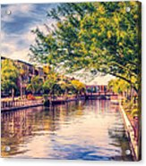 The Canal In Downtown Scottsdale Acrylic Print