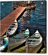 The Canoes At Big Moose Inn Acrylic Print
