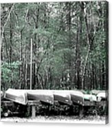 The Canoes  Acrylic Print