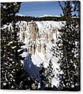 The Canyon In Winter Acrylic Print