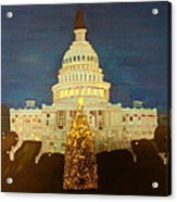 The Capitol At Christmas Acrylic Print