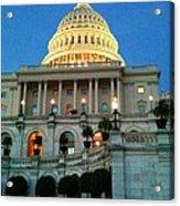 The Capitol At Dusk Acrylic Print
