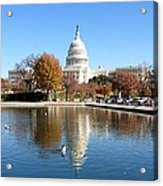 The Capitol In Fall Acrylic Print