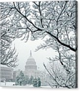 The Capitol In Snow Acrylic Print