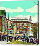 The Capitol Theatre And Main St. In Pawtucket Ri In 1905 Acrylic Print