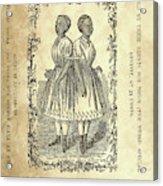 The Carolina Twins, C1869 Acrylic Print