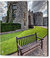 The Castle Bench Acrylic Print