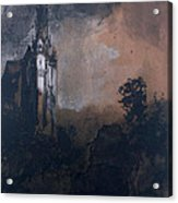 The Castle In The Moonlight  Acrylic Print