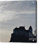 The Castle Silhouette Acrylic Print