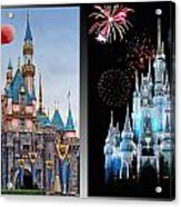 The Castles Of Disney 2 Panel Vertical Acrylic Print