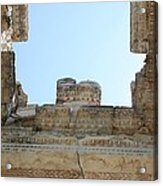 The Ceiling Of The Tetrapylon Aphrodisias Acrylic Print by Tracey Harrington-Simpson