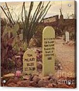 The Cemetery At Boothill Acrylic Print