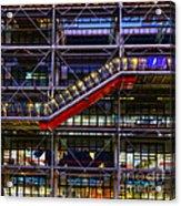The Centre Pompidou II-paris Acrylic Print