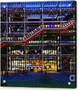 The Centre Pompidou-paris Acrylic Print