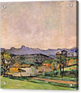 The Chaine De Letoile With The Pilon Du Acrylic Print by Paul Cezanne