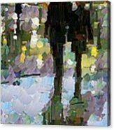 The Champs Elyseee After The Rain Acrylic Print