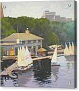 The Charles River Sailing Club Acrylic Print