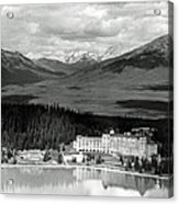 The Chateau Lake Louise Acrylic Print