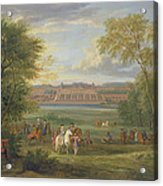 The Chateau Of Saint Germain Oil On Canvas Acrylic Print