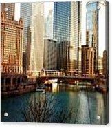 The Chicago River From The Michigan Avenue Bridge Acrylic Print