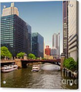 The Chicago River South Branch Acrylic Print