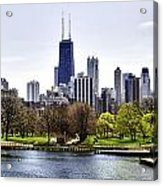 The Chicago Skyline Day-001 Acrylic Print