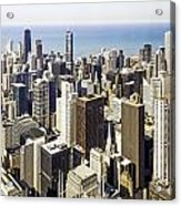 The Chicago Skyline From Sears Tower-001 Acrylic Print