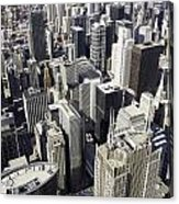 The Chicago Skyline From Sears Tower-004 Acrylic Print