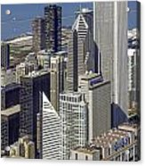 The Chicago Skyline From Sears Tower-006 Acrylic Print
