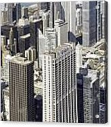 The Chicago Skyline From Sears Tower-010 Acrylic Print