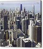 The Chicago Skyline From Sears Tower-013 Acrylic Print