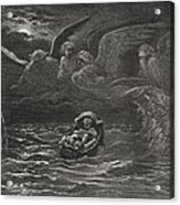 The Child Moses On The Nile Acrylic Print by Gustave Dore