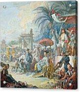 The Chinese Fair, C.1742 Oil On Canvas Acrylic Print