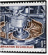 The Chocolate Factory Vintage Postage Stamp Acrylic Print