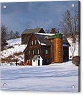 The Christmas Barn Acrylic Print