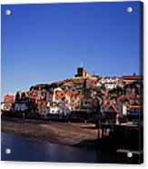 The Church Of St Mary's And Whitby Abbey North Yorkshire England Acrylic Print