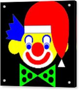 The Circus Clown wishes you a Merry Christmas Acrylic Print